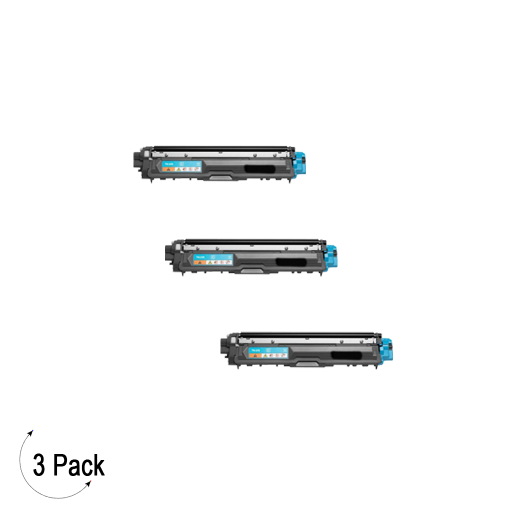 Compatible Brother TN 225 Cyan Toner 3 Pack