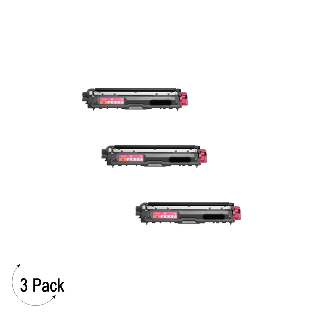 Compatible Brother TN 225 Magenta Toner 3 Pack