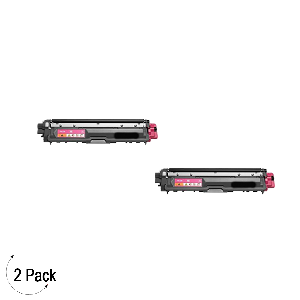 Compatible Brother TN 225 Magenta Toner 2 Pack