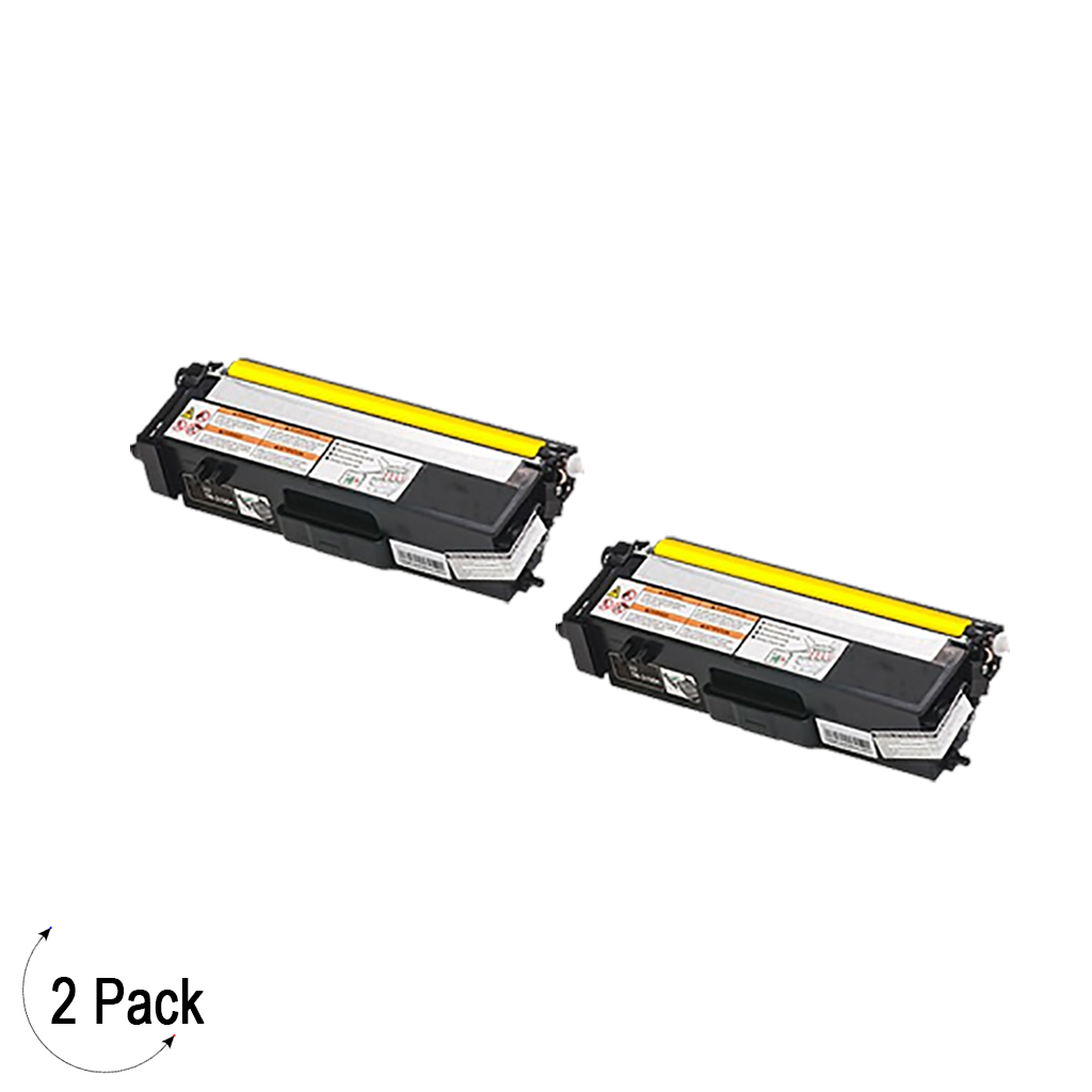 Compatible Brother TN 315 Yellow Toner 2 Pack