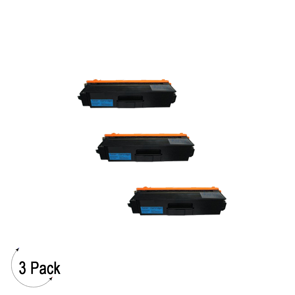 Compatible Brother TN 339 Cyan Toner 3 Pack