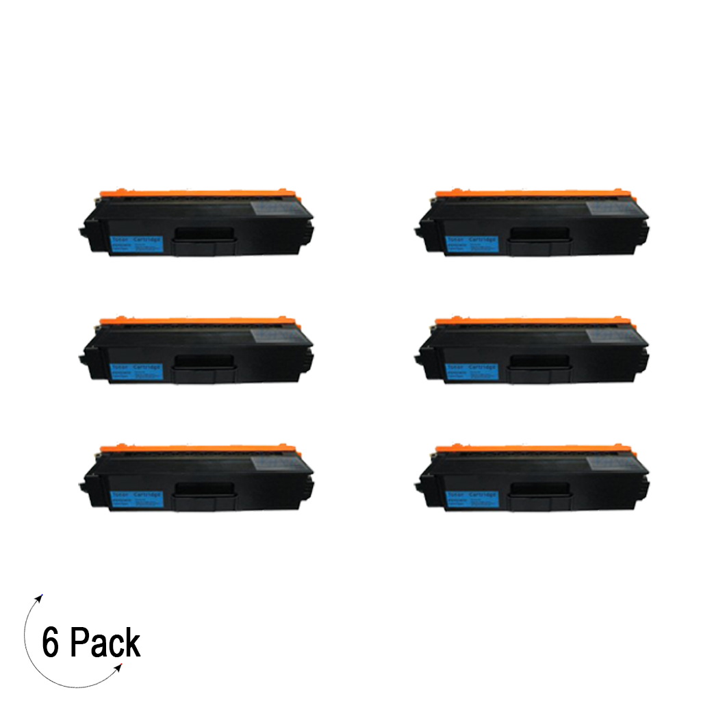 Compatible Brother TN 339 Cyan Toner 6 Pack
