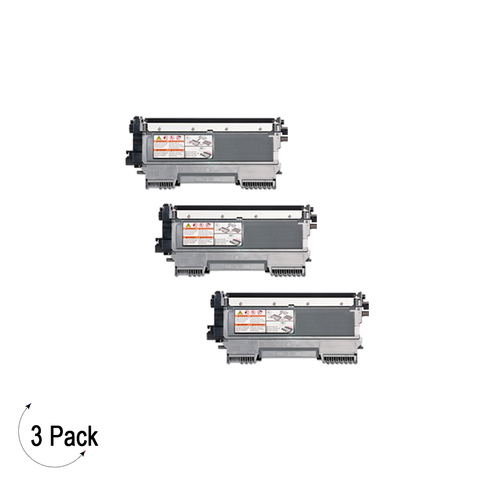 Compatible Brother TN 450 Black Toner Cartridge High Yield Version of TN420 3 Pack
