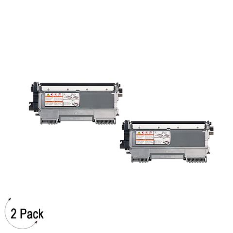 Compatible Brother TN 450 Black Toner Cartridge High Yield Version of TN420 2 Pack