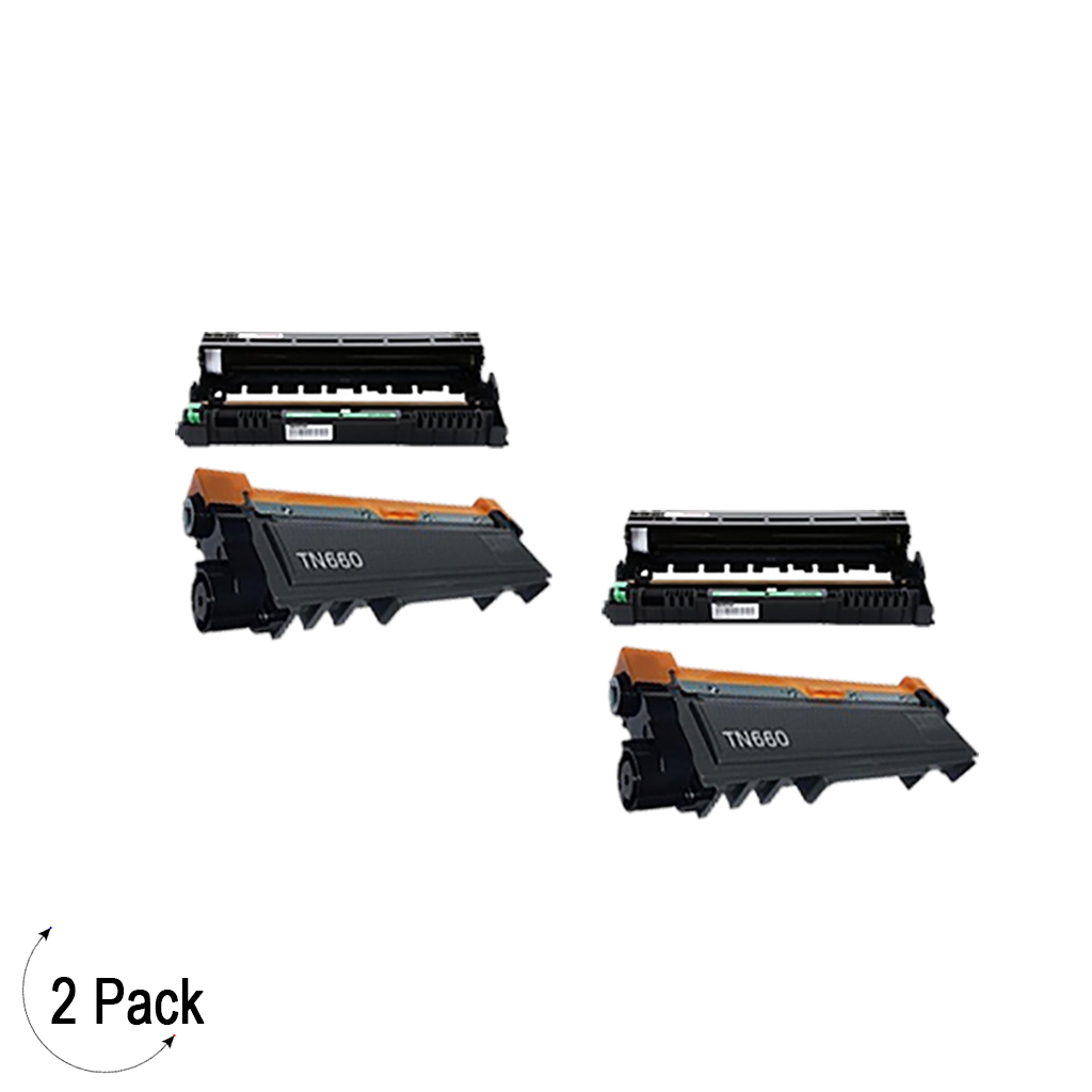 Compatible Brother TN-660 / DR-630 Toner & Drum Combo 2 Pack