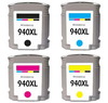 Compatible HP 940 XL SET BK/C/M/Y -Ink  (C4906ANR/907/908/909)