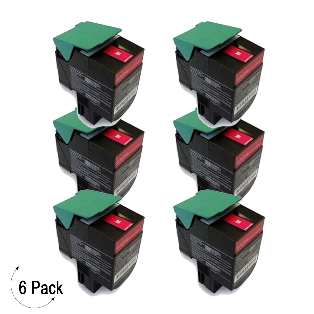 Compatible Lexmark C54X X54X Magenta -Toner 6 Pack (C540H2MG)