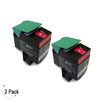 Compatible Lexmark C54X X54X Magenta -Toner 2 Pack (C540H2MG)