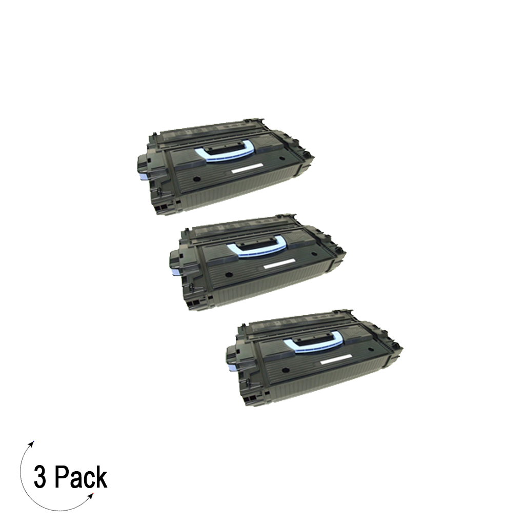Compatible HP 43X Black -Toner 3 Pack (C8543X)