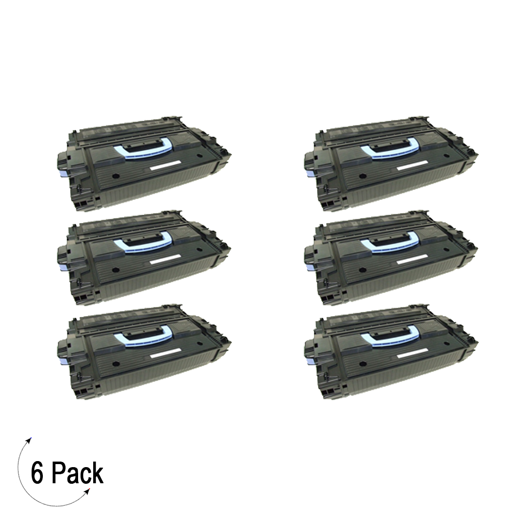 Compatible HP 43X Black -Toner 6 Pack (C8543X)