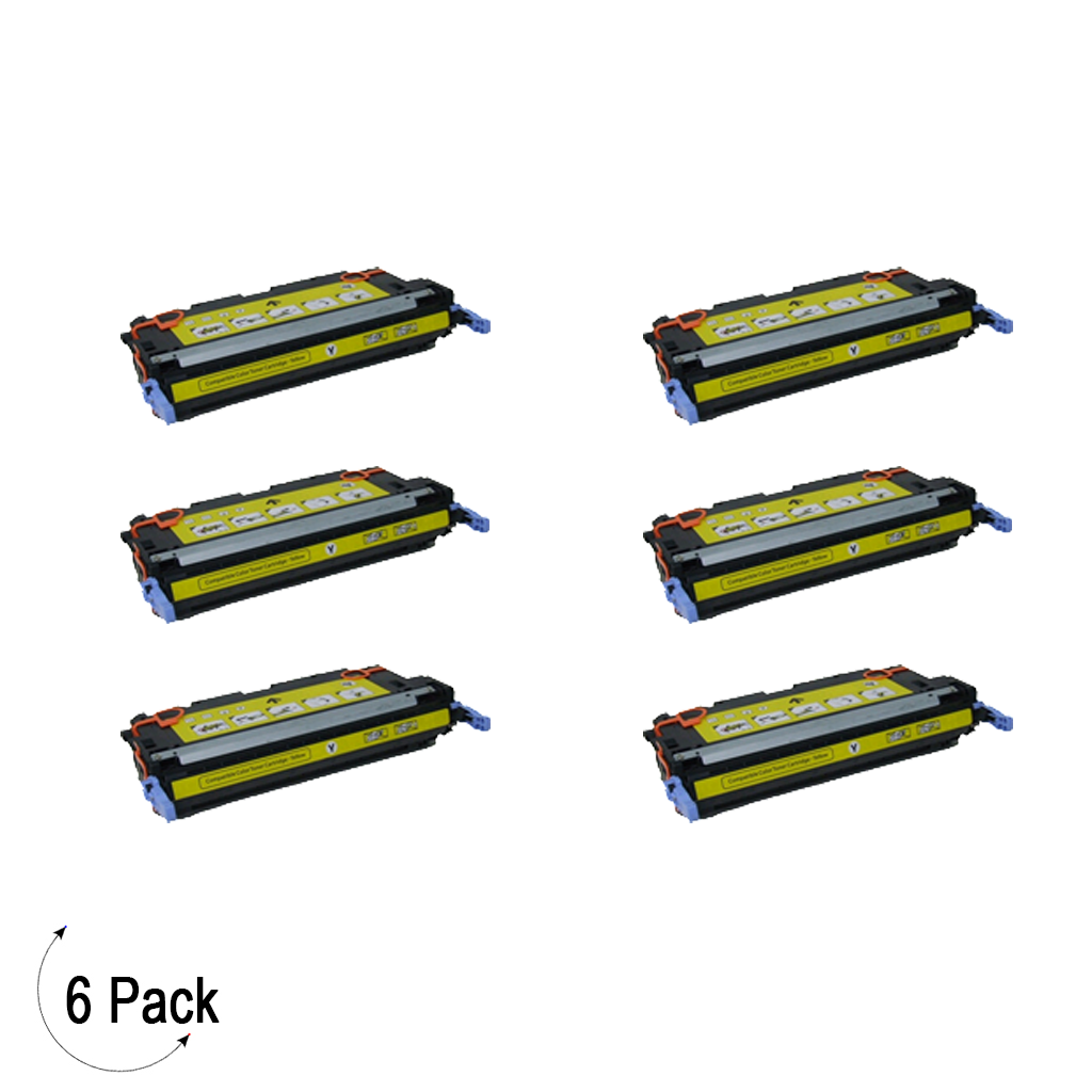 Compatible HP 645A Yellow -Toner 6 Pack (C9732A)