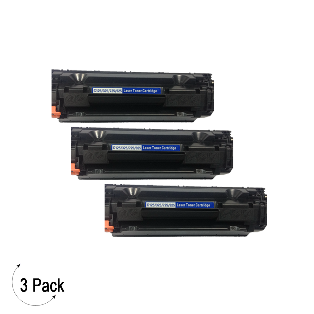Compatible Canon 125 Black Toner 3 Pack