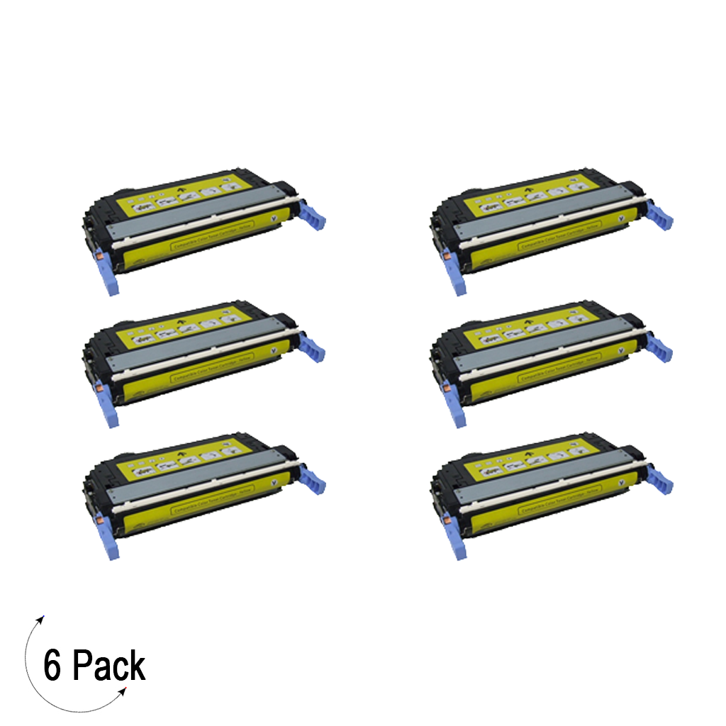 Compatible HP 642A Yellow -Toner 6 Pack (CB402A)