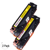 Compatible HP 125A Yellow -Toner 2 Pack (CB542A)