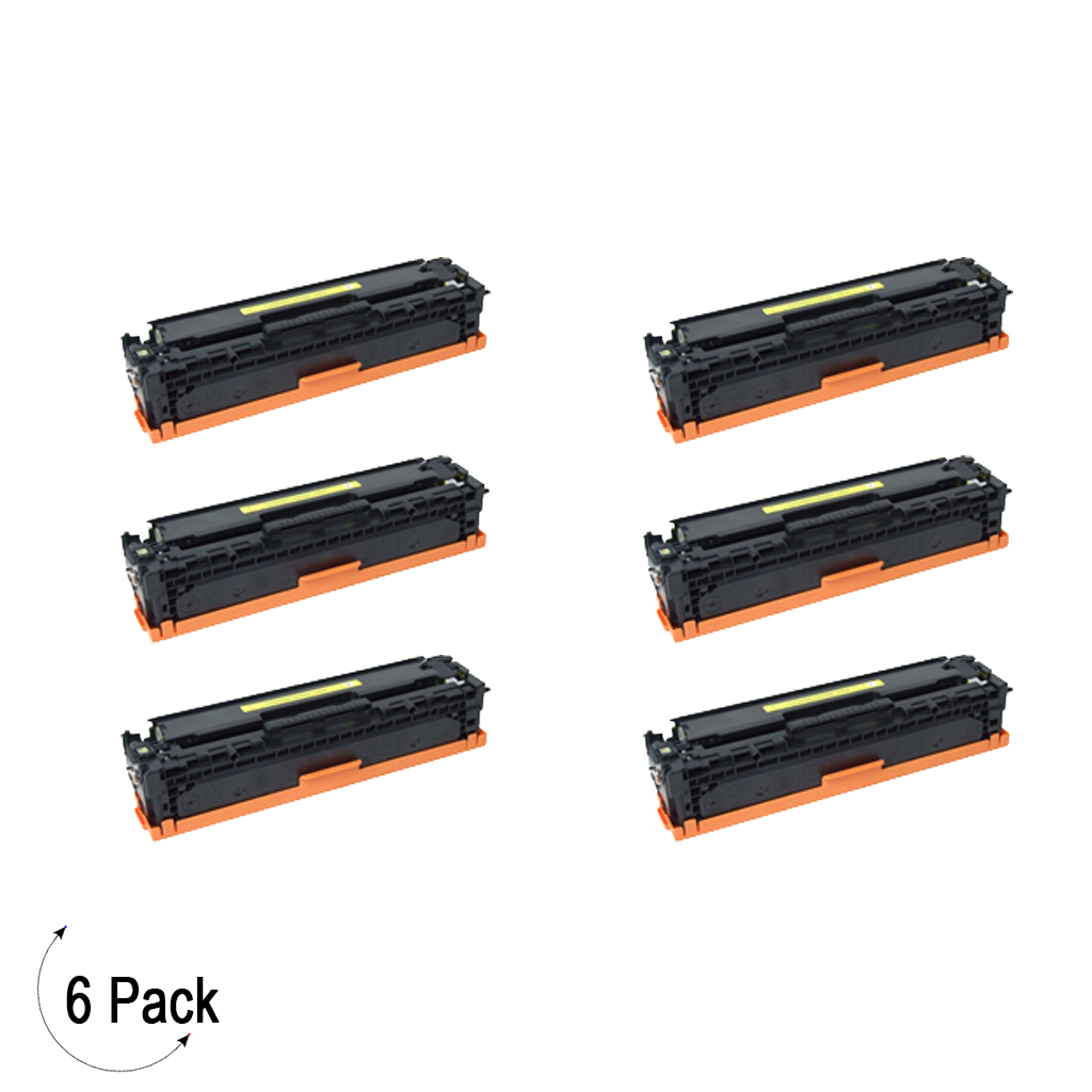 Compatible HP 304A Yellow -Toner 6 Pack (CC532A)