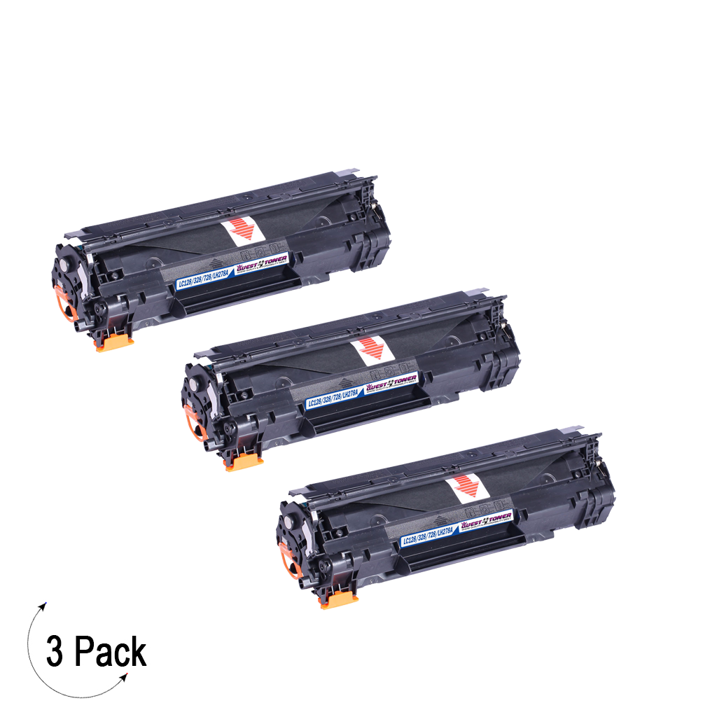 Compatible HP 78A Black -Toner 3 Pack (CE278A)