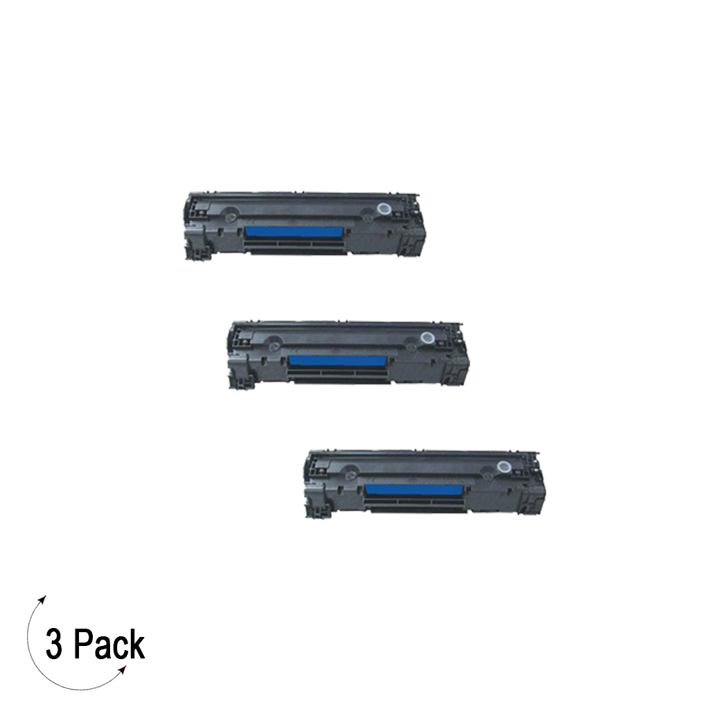 Compatible HP 85A Black -Toner 3 Pack (CE285A)