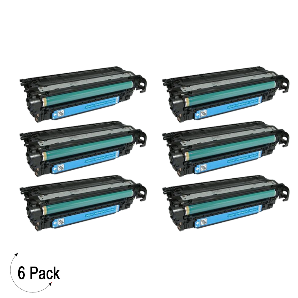 Compatible HP 507A Cyan -Toner 6 Pack (CE401A)