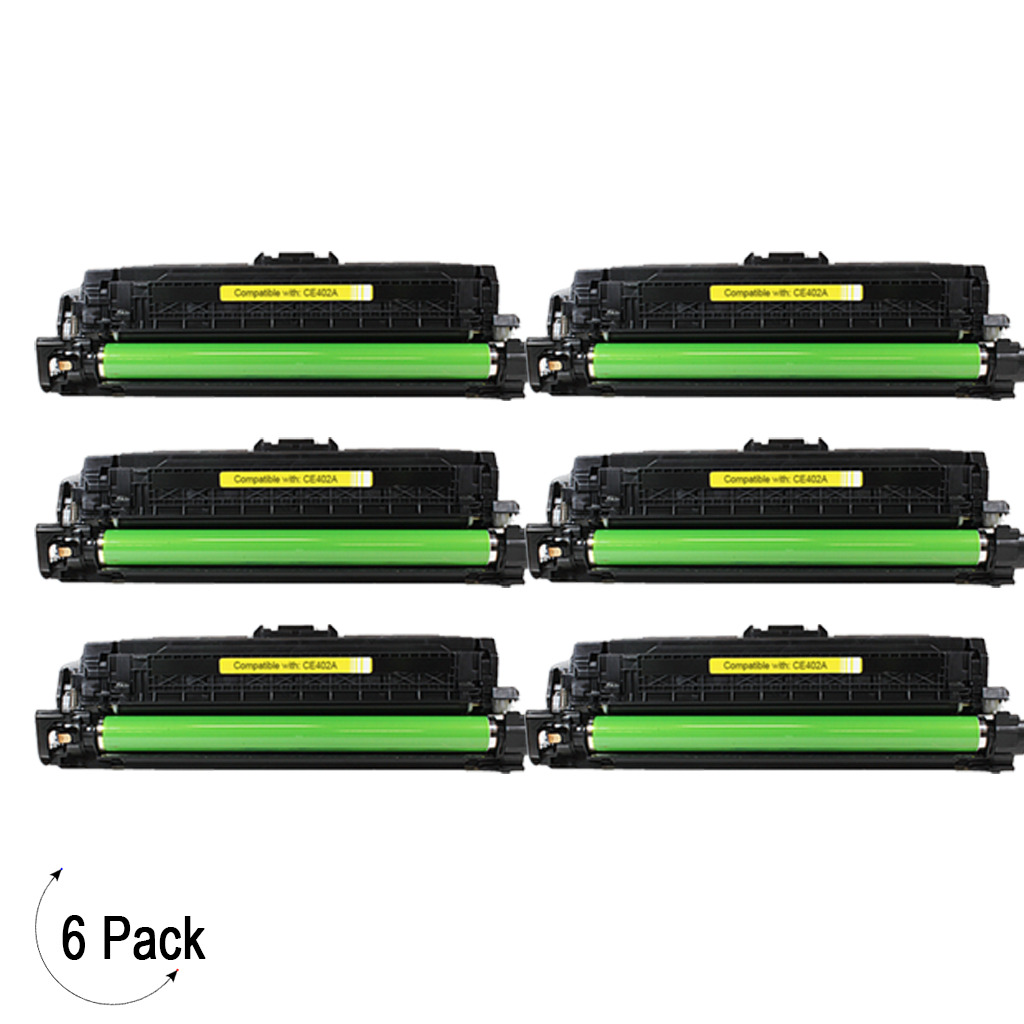 Compatible HP 507A Yellow -Toner 6 Pack (CE402A)