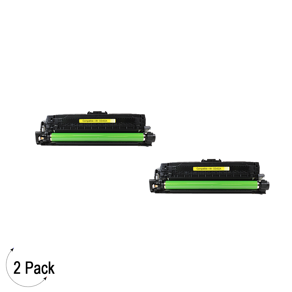 Compatible HP 201A Yellow -Toner 2 Pack (CF402A)