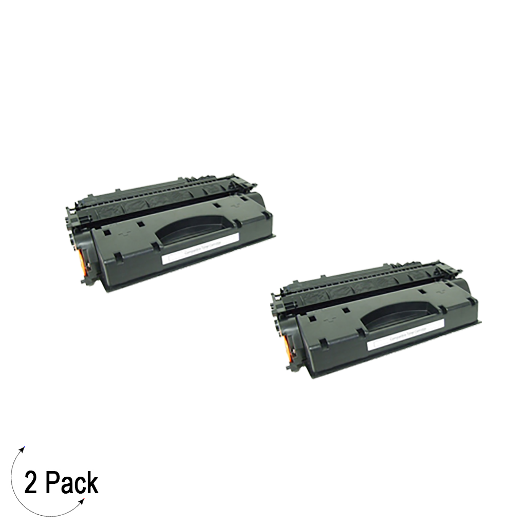 Compatible HP 05X Black -Toner 2 Pack (CE505X)