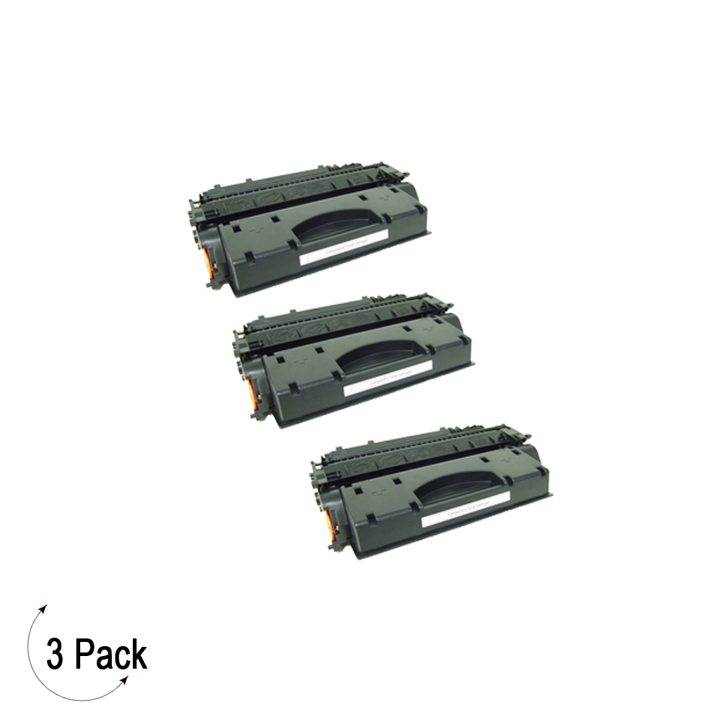 Compatible HP 05X Black -Toner 3 Pack (CE505X)
