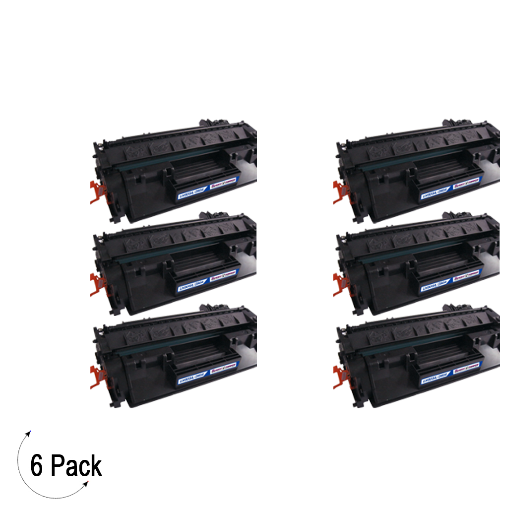 Compatible HP 80A Black -Toner 6 Pack (CF280A)