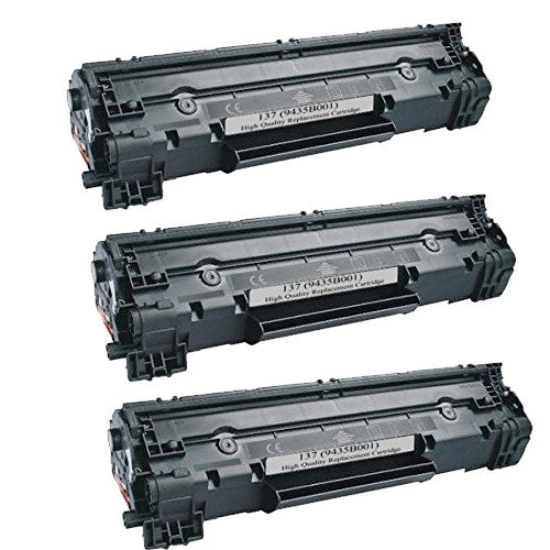 Compatible Canon 137 Black Toner 3 Pack