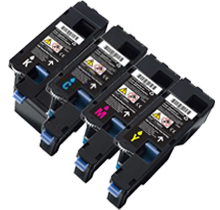 Compatible Dell C1660 Toner Cartridge Set (Black, Cyan, Yellow, Magenta)