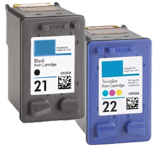 Compatible HP 21 Compatible HP 22  Black & Color Ink Cartridges (C9351WN/9352WN)