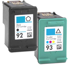 Compatible HP 92 Compatible HP 93 SET BK/CL -Ink  Combo Set (C9362WN/C9361WN)