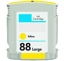 Compatible HP 88XL C9393AN C9388AN Yellow  -Ink