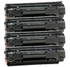 Compatible HP 36A Black -Toner 4 Pack (CB436A)