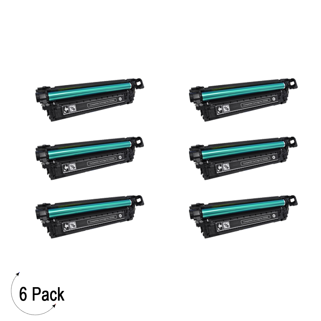 Compatible HP 504A Black -Toner 6 Pack (CE250A)