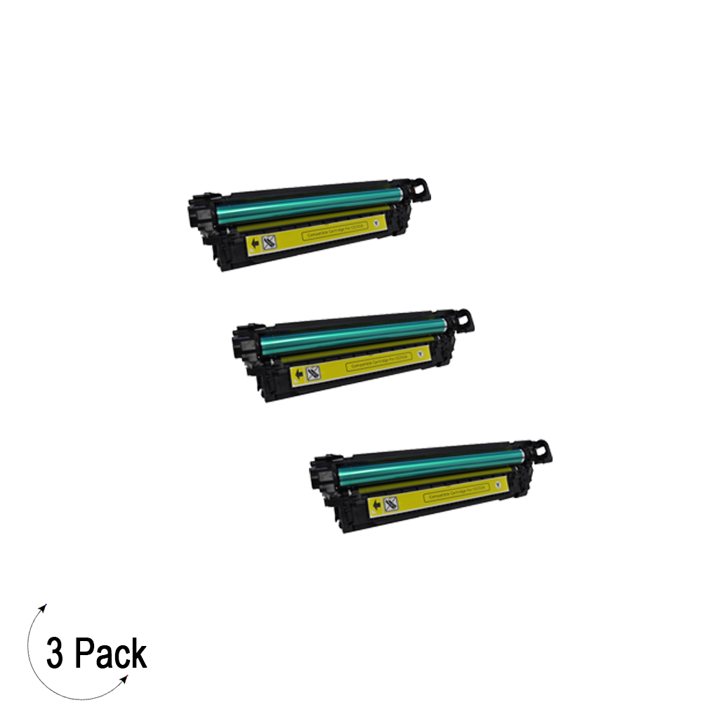 Compatible HP 504A Yellow -Toner 3 Pack (CE252A)