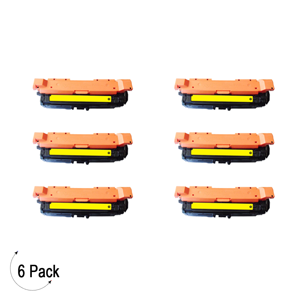 Compatible HP 307A Yellow -Toner 6 Pack (CE742A)