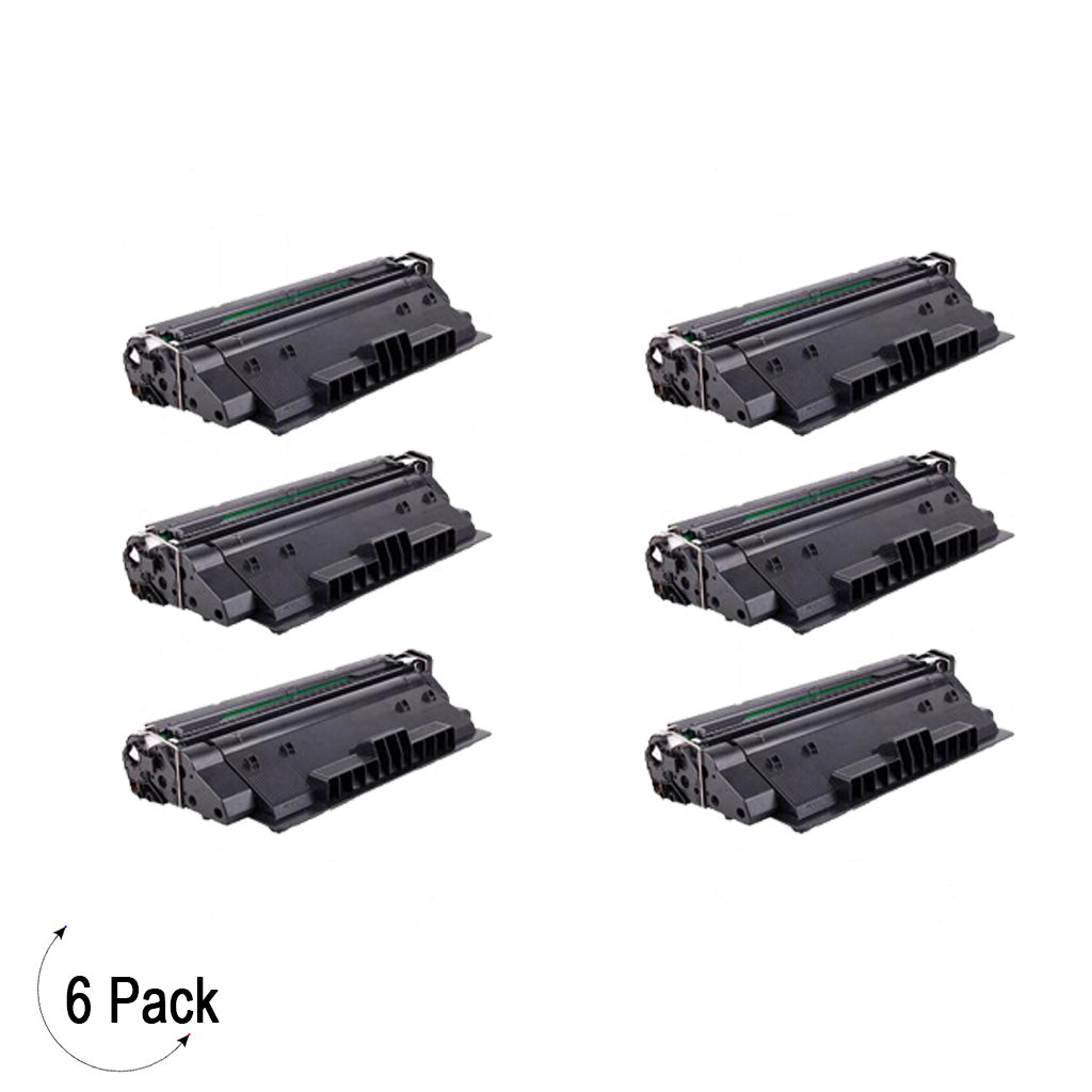 Compatible HP 14X Black -Toner 6 Pack (CF214X)