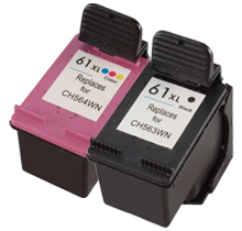 Compatible HP 61XL CH563WN/CH564WN Ink Cartridge Combo Black Tri-Color High Yield