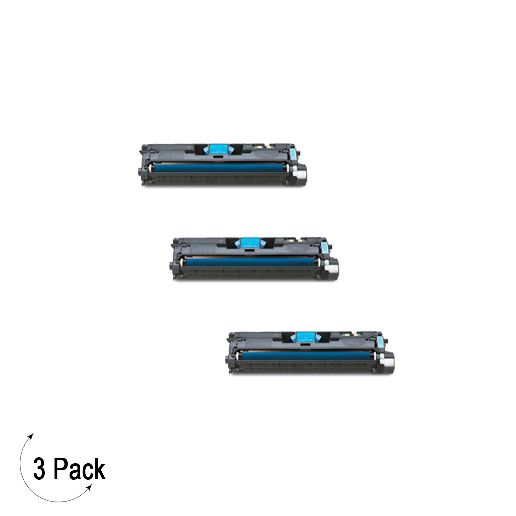 Compatible HP 122A Cyan -Toner 3 Pack (Q3961A)
