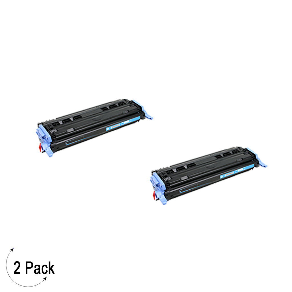 Compatible HP 124A Cyan -Toner 2 Pack (Q6001A)