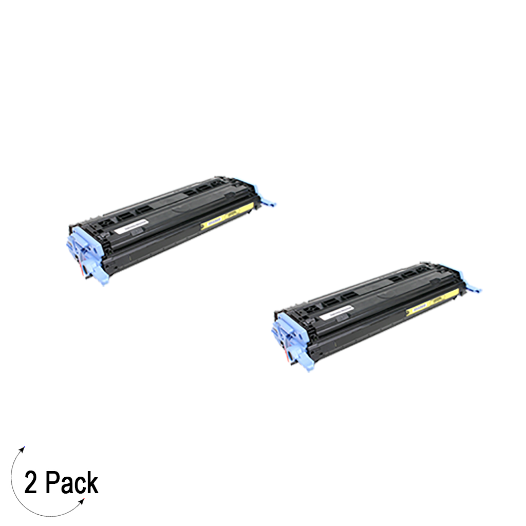 Compatible HP 124A Yellow -Toner 2 Pack (Q6002A)