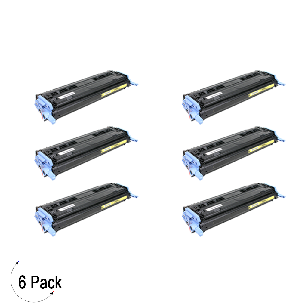 Compatible HP 124A Yellow -Toner 6 Pack (Q6002A)