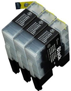 Compatible Brother LC-61 Black Ink 3 Pack