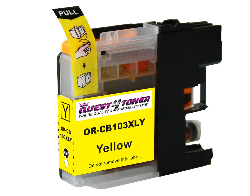 Compatible Brother LC 103 Yellow -Ink