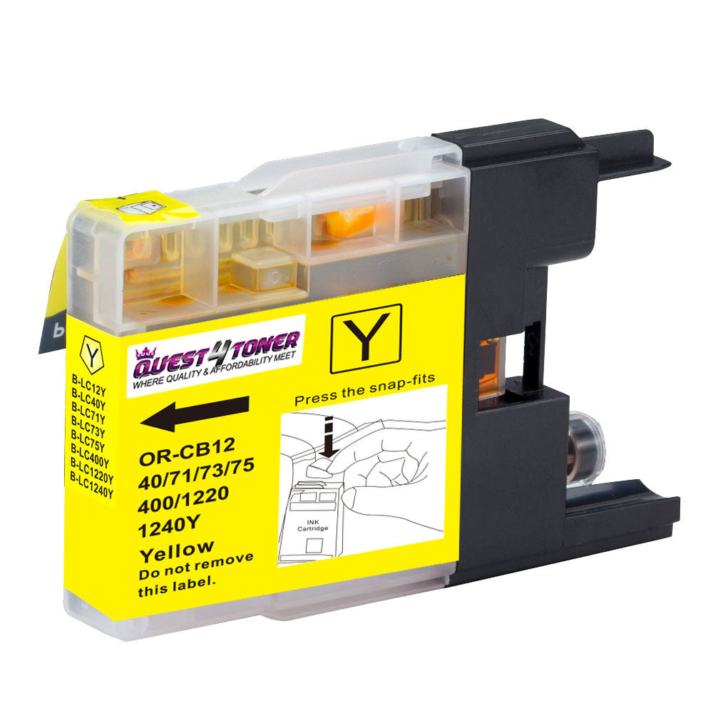 Compatible Brother LC 75Y Yellow -Ink