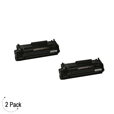 Compatible HP 12A Black -Toner 2 Pack (Q2612A)