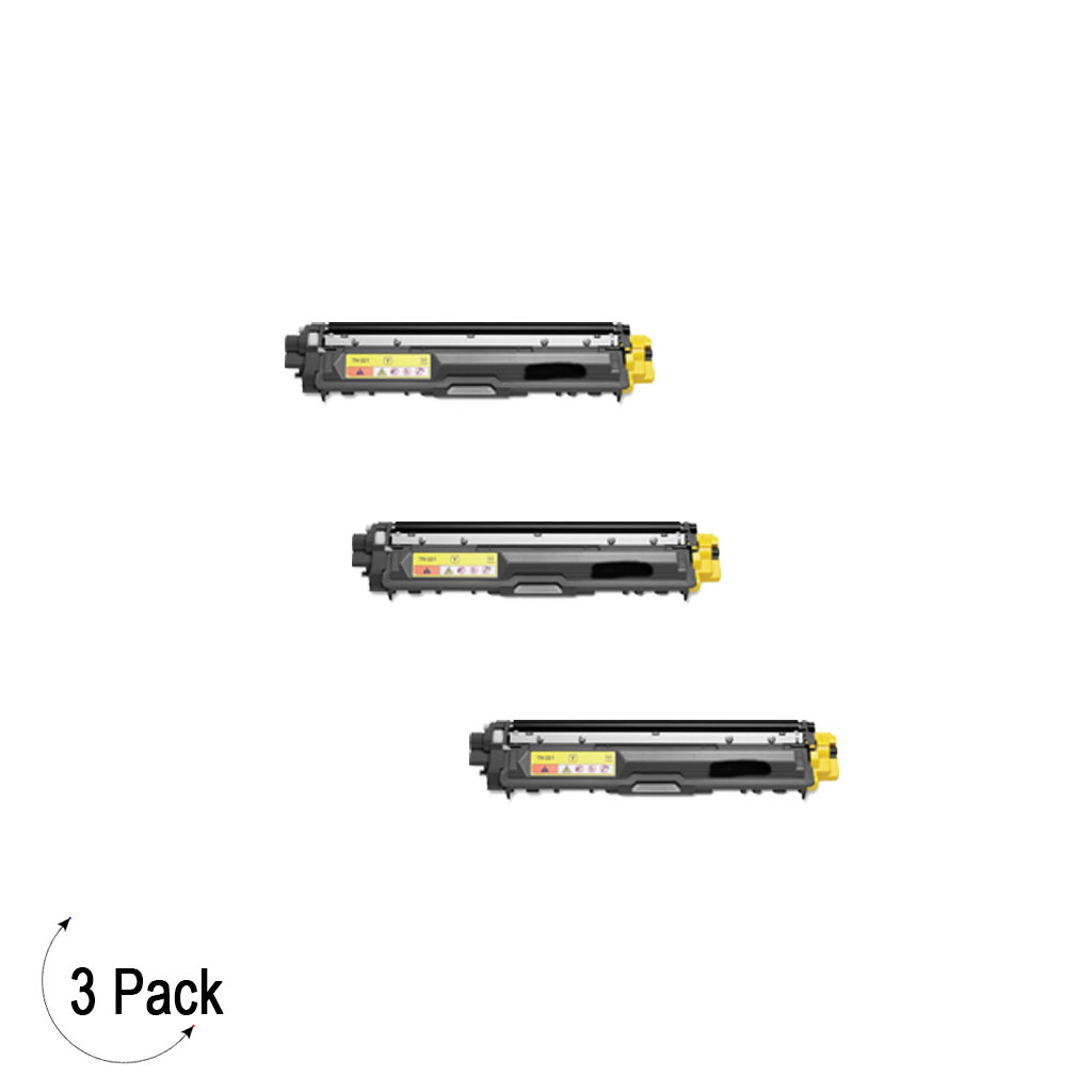 Compatible Brother TN-221 Yellow Toner 3 Pack