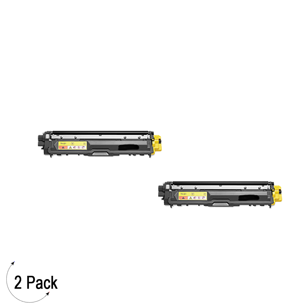 Compatible Brother TN-221 Yellow Toner 2 Pack