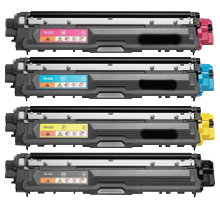 Compatible Brother TN-221 TN-225 High Yield Toner Cartridge Set Black,Cyan,Magenta,Yellow