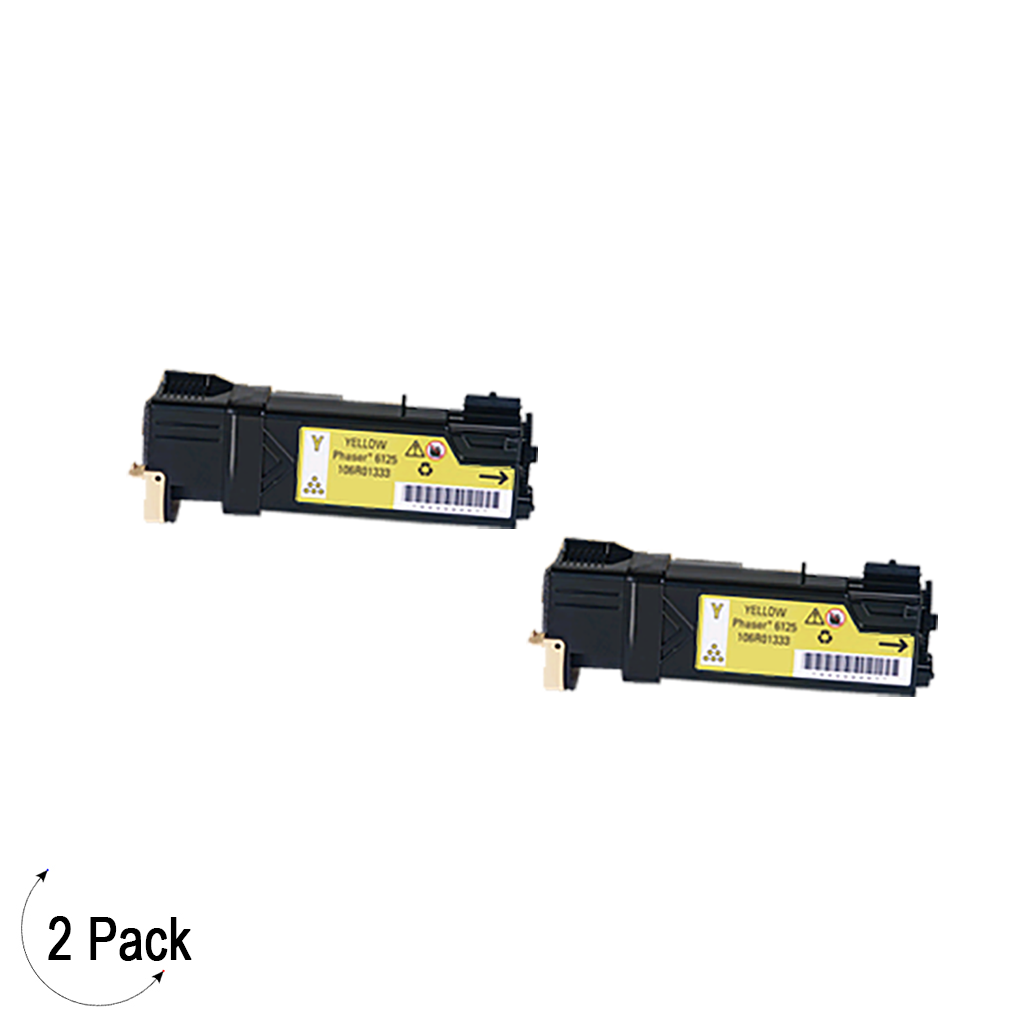 Compatible Xerox 106R01333 Yellow -Toner 2 Pack (106R01333)